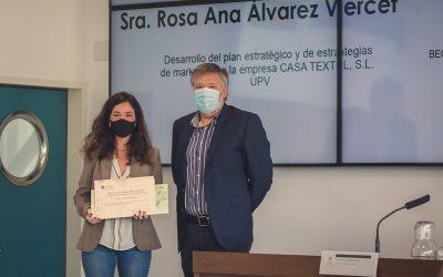 Rosa Ana Álvarez, ganadora de la Beca Roberto Blanes Vañó, del COAC